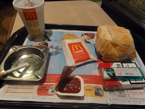 morning mcdonnalds set in japan