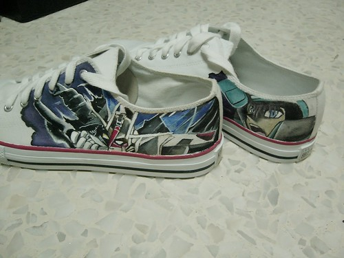painted gundam sneakers shoes