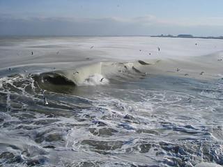 mar negro congelado