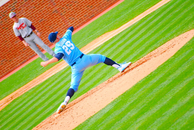 college baseball: va tech @ unc, game 3