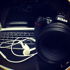 Most used #technology items #photoadaymay digital camera, laptop & headphones