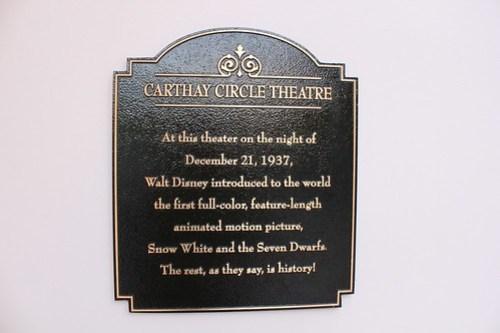 Carthay Circle Theatre plaque