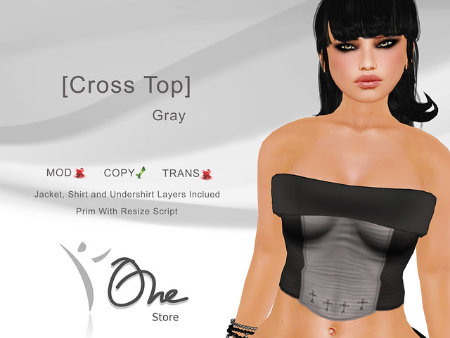 [Cross Top] Gray