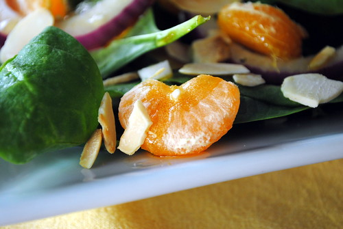 Mandarin, Almond & Spinach Salad with Asian Vinaigrette