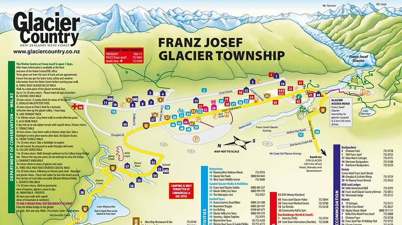 Franz Josef Glacier country map