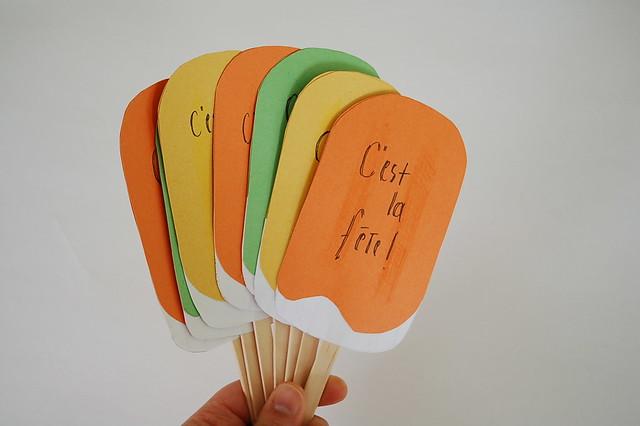 Popsicle invitations