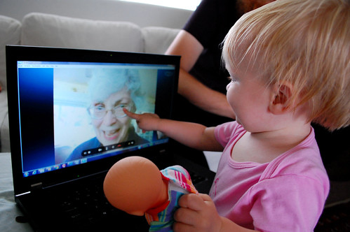 Skyping with grandma.
