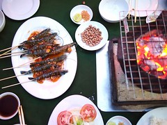 Live prawns, Luong Son Bo Tung Xeo, Ly Tu Trong