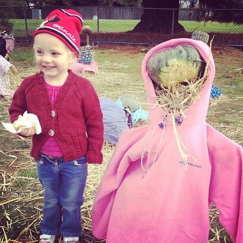 Alice meets a scarecrow.