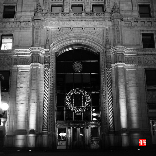 Hass500CM CHI HP5+ 1600 WrigleyEntrance_Night01B