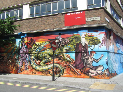 Curtain Road mural