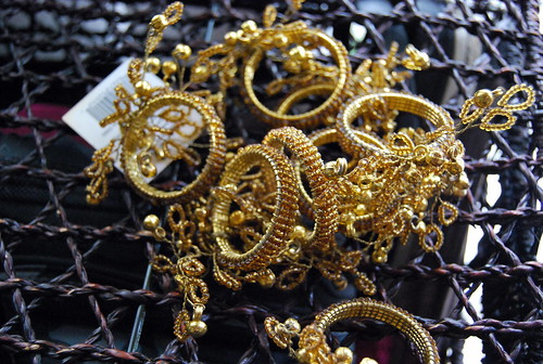 Gold Napkin Rings with Bells - 8