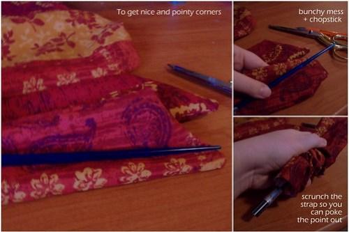 pointy corners with a chopstick