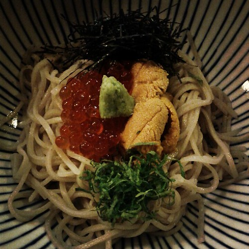 Uni Ikura Soba at Sobakoh