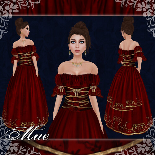 Mae - Gown - Cardinal