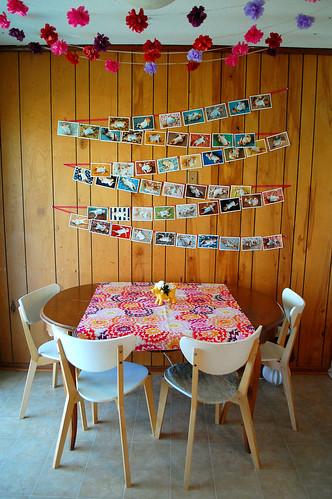 Bea's birthday decor.