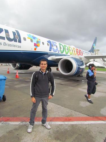 Nosso editor, Danilo Araújo, ao lado do PR-AYQ, já em Vitória.
