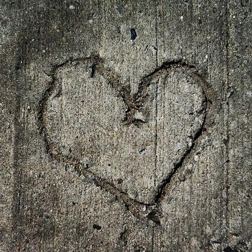 Cement Heart #greenpoint #brooklyn