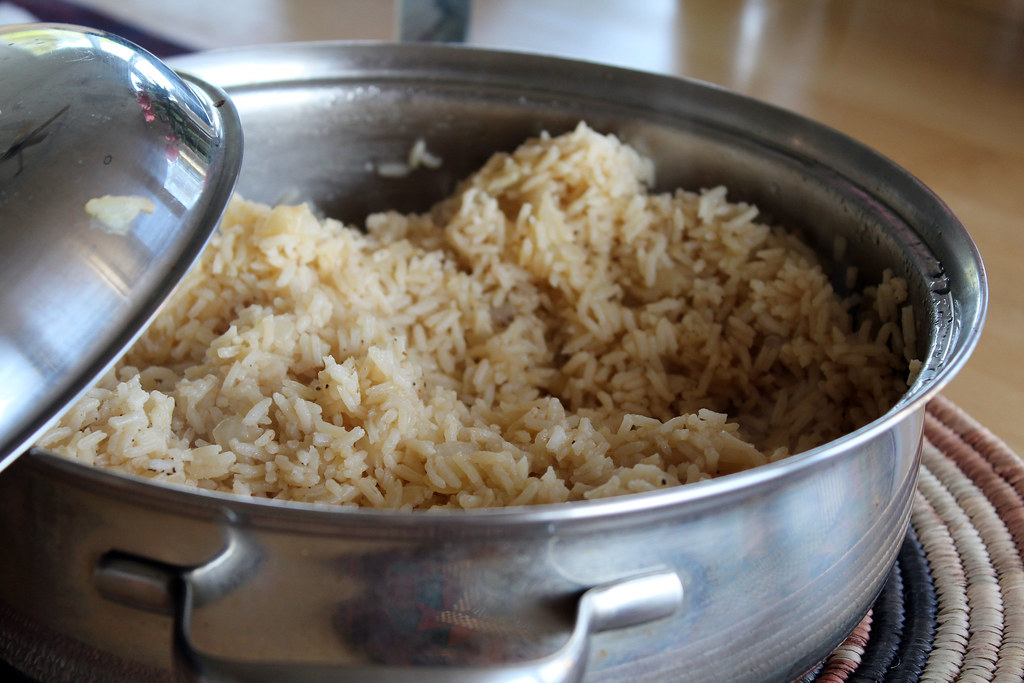 a simple rice pilaf