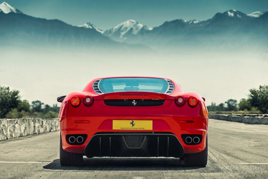 Red Ferrari 430 on Highway