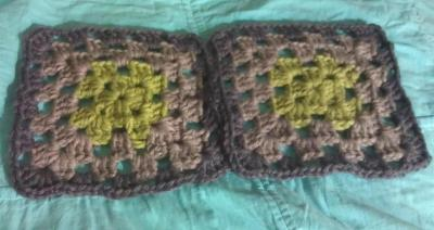 My first two granny squares...
