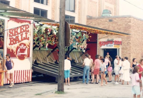 Saint Richard's Catholic Parish Church annual summer carnival.  Chicago Illinois. July 1987.