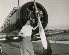 Lady and Plane