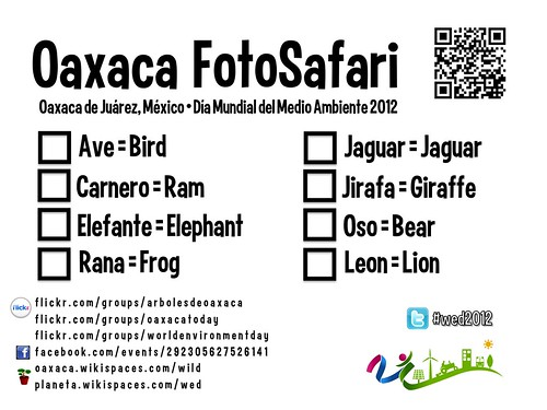 Wildlife Checklist @ #WED2012 #FotoSafari in Oaxaca