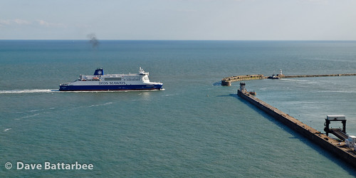 Ferry approaching Dover Ferry Port