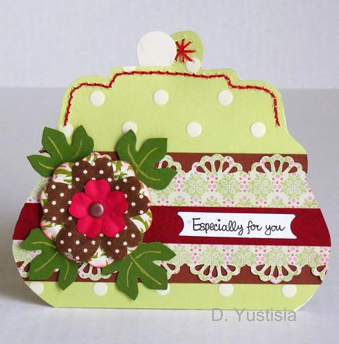 Purse shaped greeting card