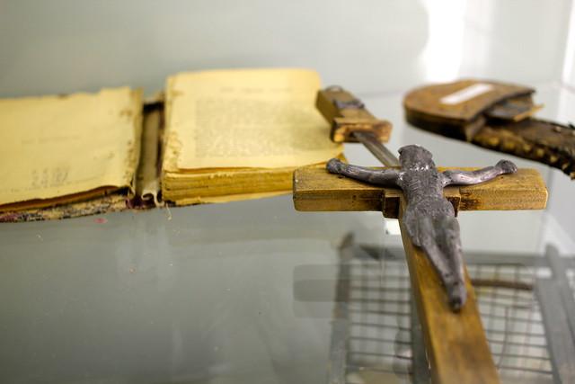 Knife in a crucifix