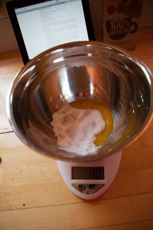 egg yolks and sugar