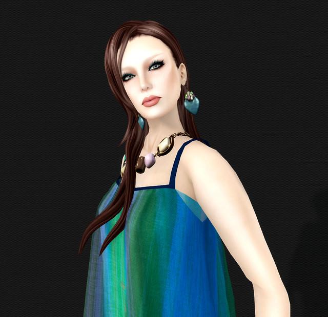 Urworldsl -Tania Tebaldi Beige & blue 2