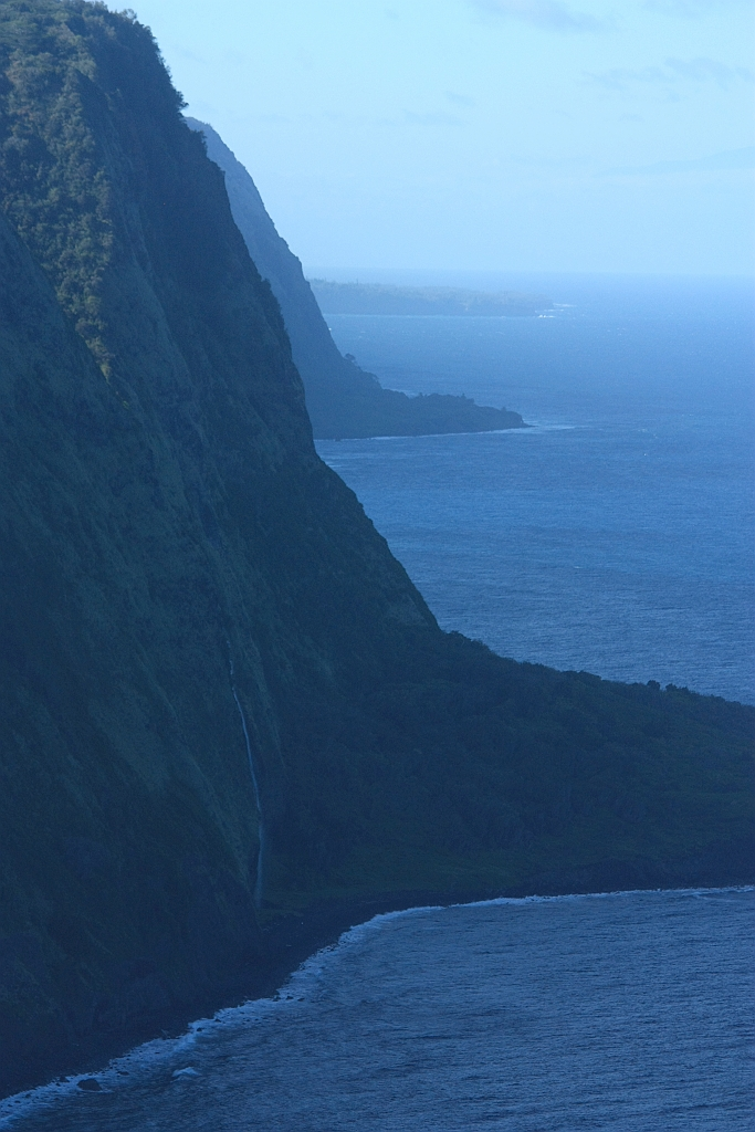 Waipio Valley, Ainahou Cape, Waimanu Valley, Hamakua Coast, Big Island, Hawaii