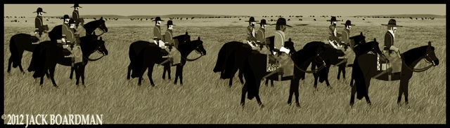 McLintock's men left the ranch headed east ©2012 Jack Boardman