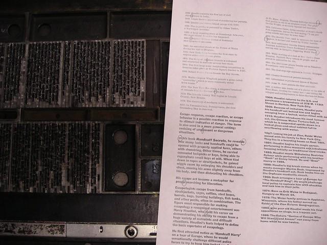 letterpress hand set type