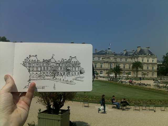 Sketching in the Jardins Luxembourg