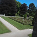 View of the formal garden from the upper story of the house.