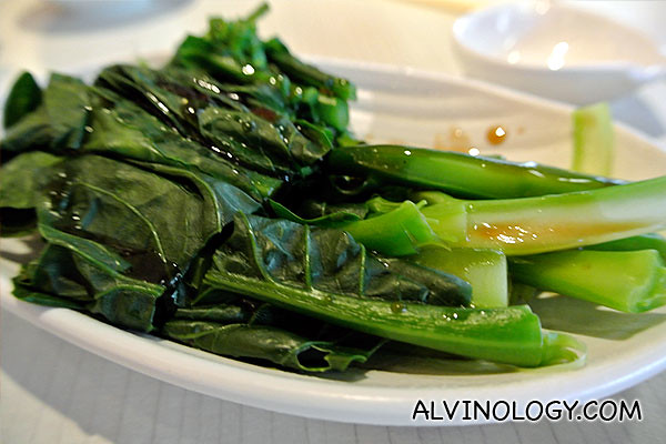 Vegetable with oyster sauce