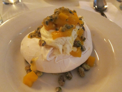 Mango, Lime & Passion Fruit Pavlova, Pistachio