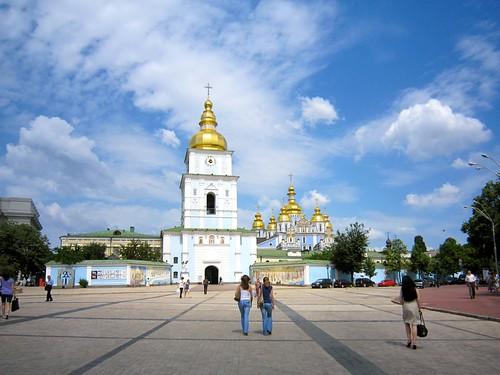 St. Michael's Golden-Domed Monastery, Kiev, Ukraine by Webminkette