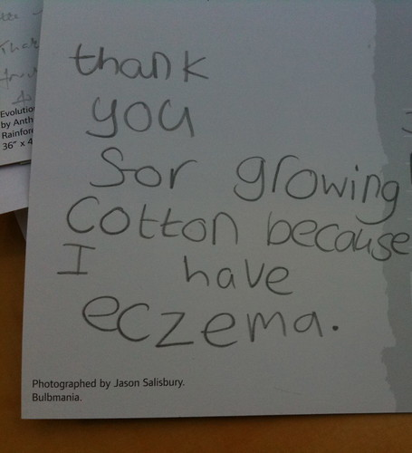 Thank you ... because I have eczema.