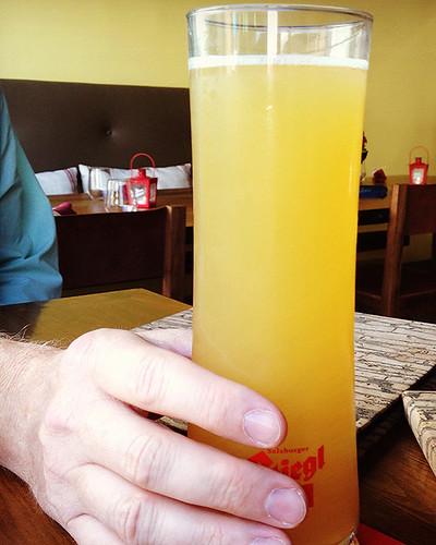 Stiegl Radler Grapefruit at BierBeisl