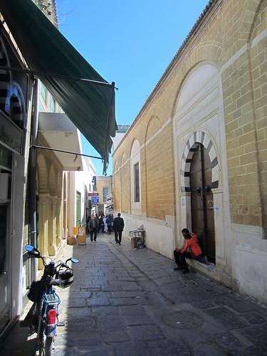 a quieter street in the medina