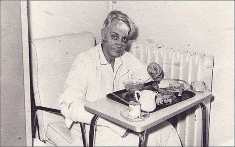 Male patient in Bazas France hospital 1968 - 800x500