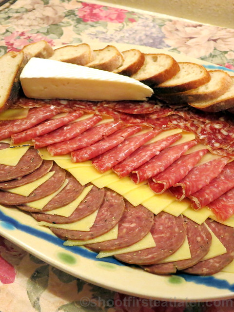 Santi's cold cuts & cheese platter