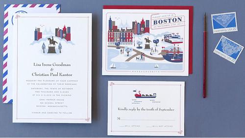 boston invitación de bodas