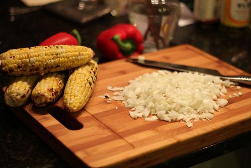 Chopped Onion for Corn Chowder