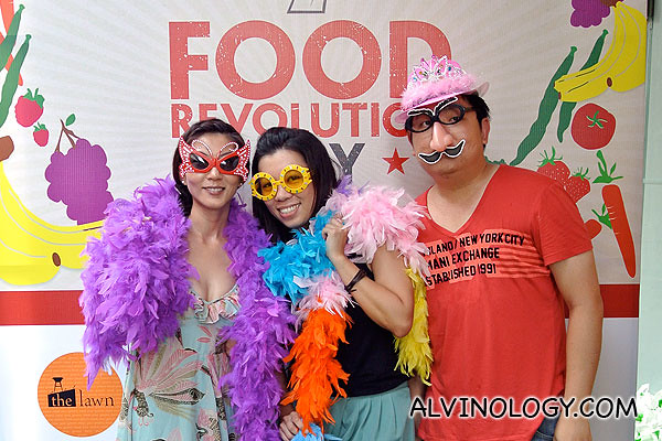 Irene, Janet and I at the Food Revolution photo wall