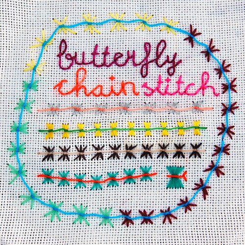 tast 2012 #21: butterfly chain stitch